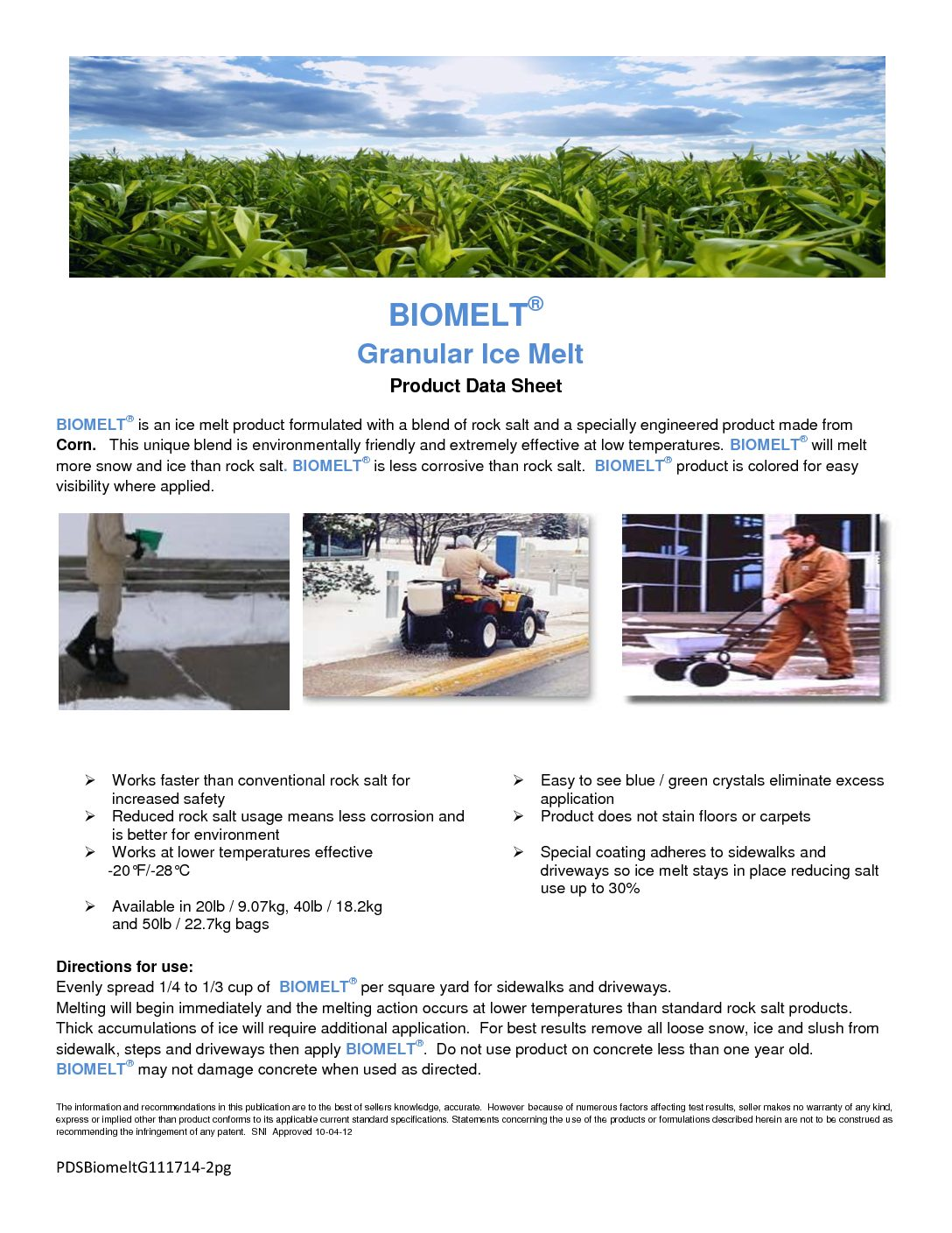 BioMelt Product Data Sheet